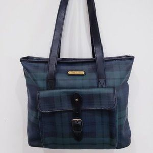 Vintage Plaid Polo by Ralph Lauren Tote